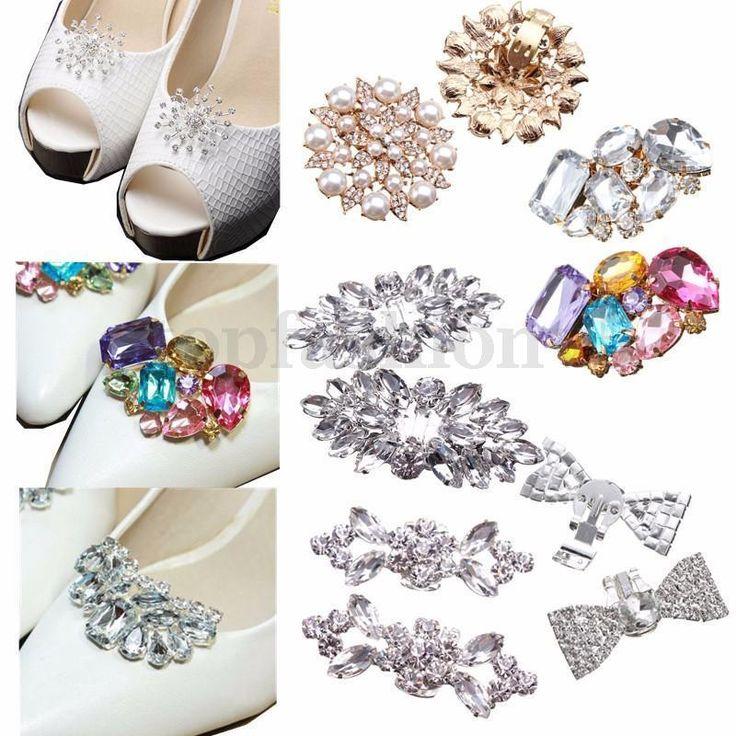 3,89 topfashion +0 Fibbia Clip Luccicante Fiore Diamante Cristallo Strass Bridal Partito