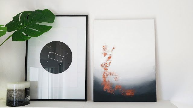 DIY Abstract Art - La creme