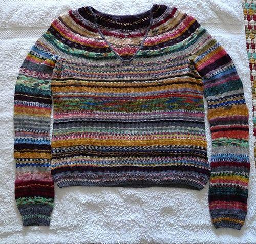 Finished my multi-colour sparkle magic sweater… ROYAL RAINBOW!!