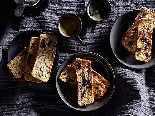 Fennel Seed, Almond and Dried Fig Biscotti
