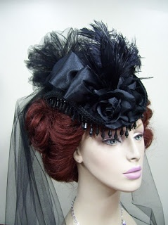 Victorian hat. Rich navy color
