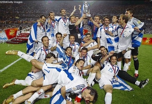 Greek soccer team champions of Euro cup 2004