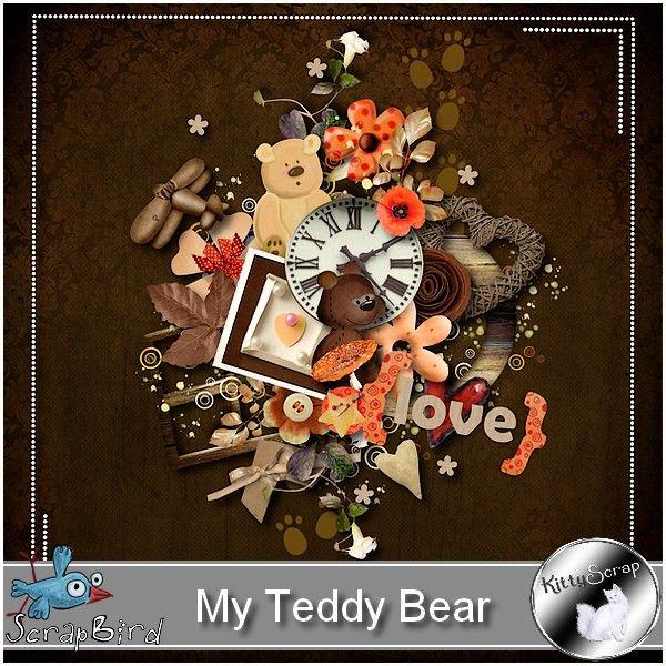 mini kit my teddy bear by kittyscrap