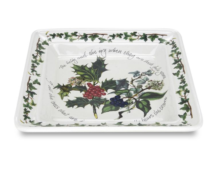 1 Set 6 Piece Holly and Ivy Square Plate Set
