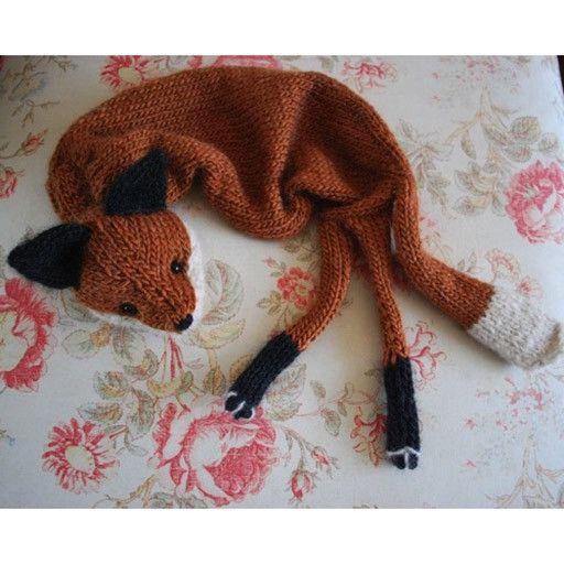 Fox Animal Scarf Free Patterns Patterns Kid
