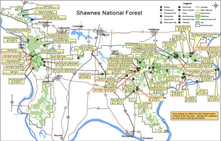 Shawnee National Forest, Map