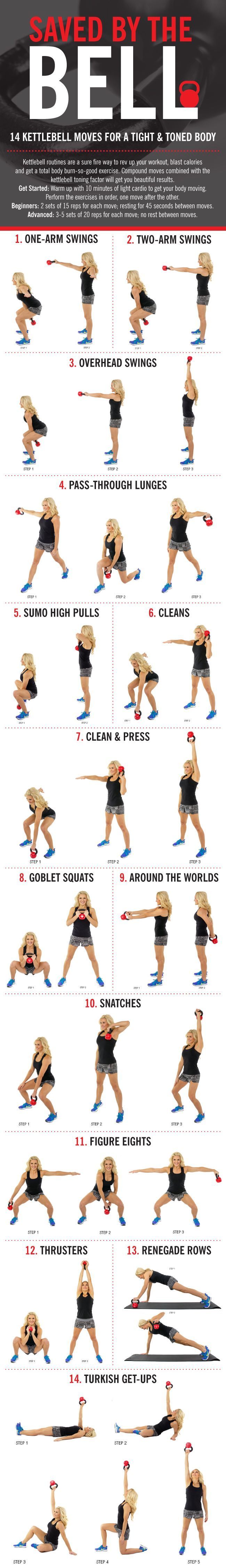 Tighten and tone with these amazing kettlebell moves!