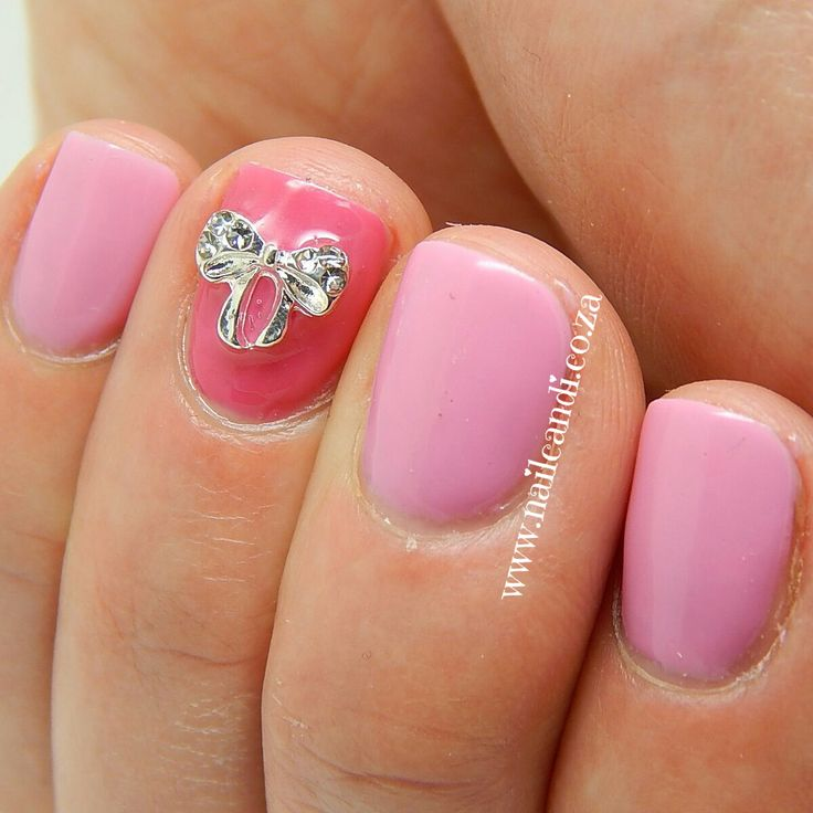 """""""Babydoll"""" Nail Art bow available from www.nailcandi.co.za  The ONLY reusable nail art charms"""