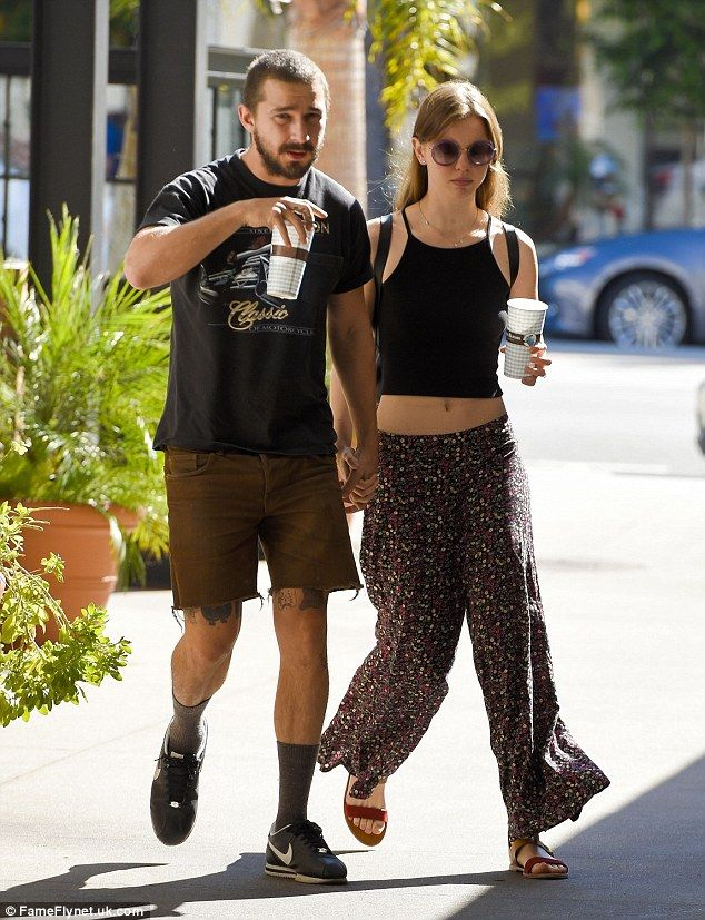 Back on? Shia LaBeouf and Mia Goth were pictured hand-in-hand in LA on Tuesday as they reu...