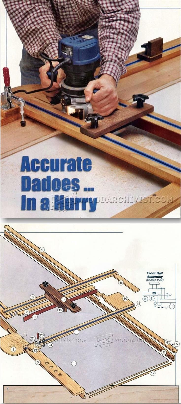 Dado Router Jig Plans - Joinery Tips, Jigs and Techniques | WoodArchivist.com