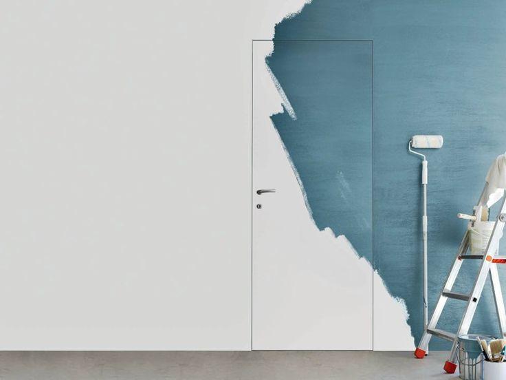 Porta a battente a filo muro ghost collezione 2000 by door - Porta filo muro prezzi ...