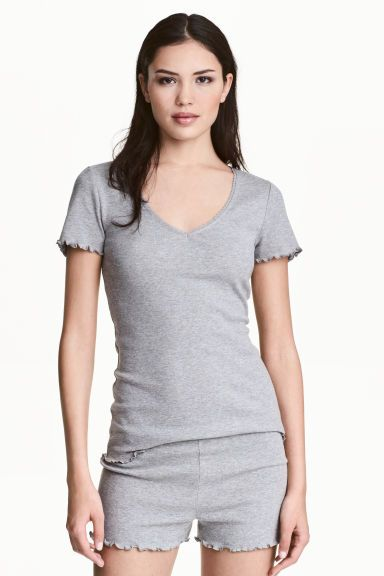 파자마 세트 - Grey marl - Ladies | H&M KR