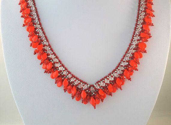 Dames Kralen Juwelen Rode Ketting voor Mams Gelaag…