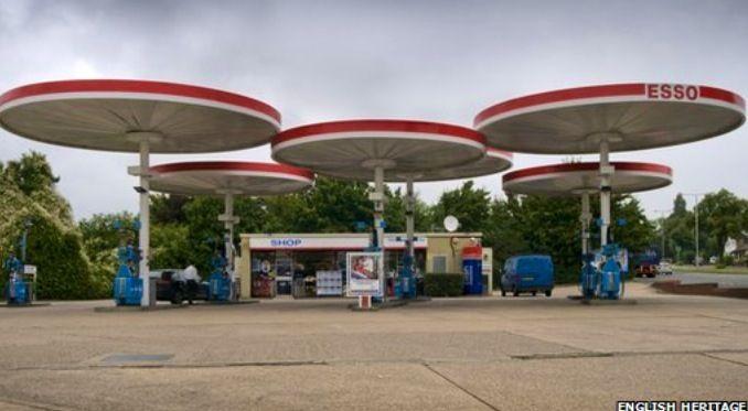Petrol forecourt in uk