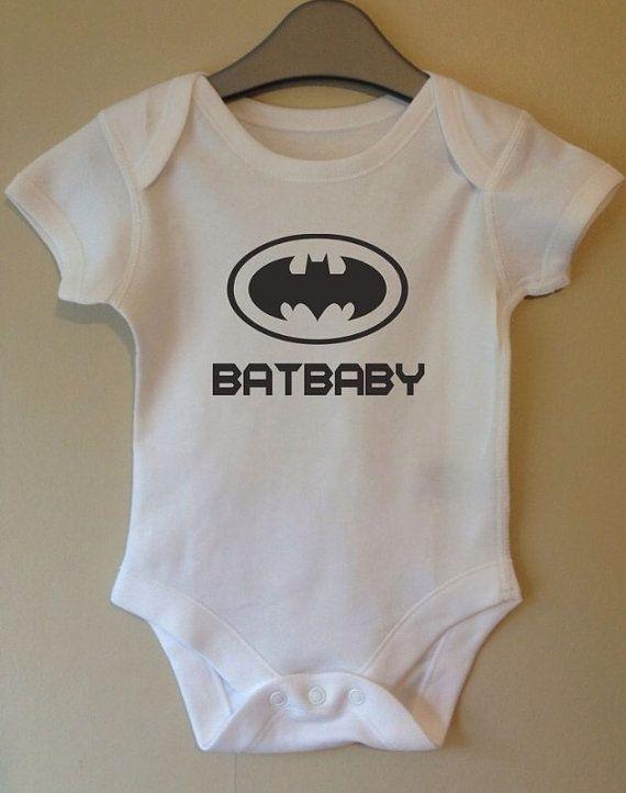 Batbaby batman bodysuit film slogan retro onesie cool baby body grow suit vest girl boy baby clothes gift idea funny on Etsy, £5.49