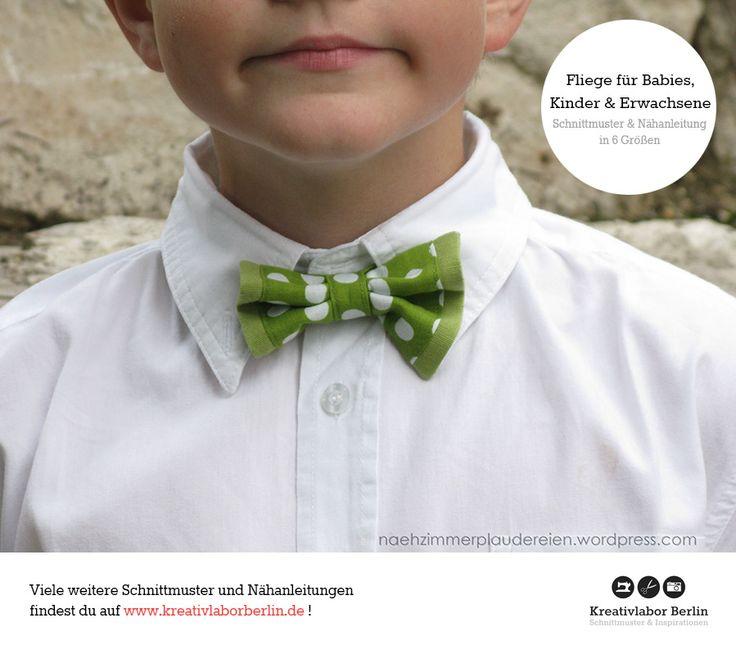 Festliche Fliege für Erwachsene,  Babies & Kinder nach meinem Schnittmuster http://www.kreativlaborberlin.de/naehanleitungen-schnittmuster/fliege-fuer-erwachsene-kinder-babies/