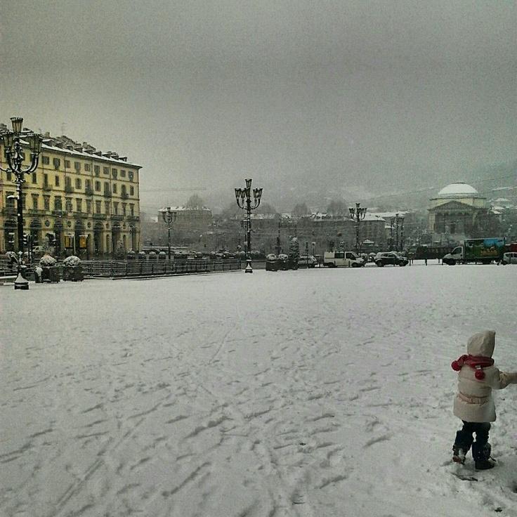 #Piazza Vittorio con la #neve: pura #magia!