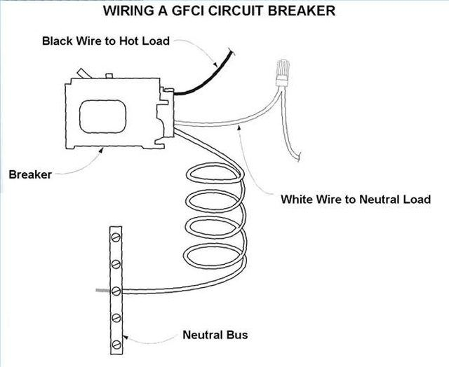 how to wire a gfci circuit breaker | hunker | gfci, breakers, circuit  pinterest