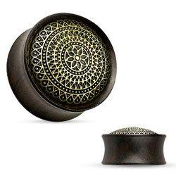 Plug courbe en bois vintage rosas - 14mm. Piercing-abondance vous propose des milliers de bijoux corporels en acier pour hommes et femmes.