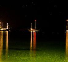 Night ships by Angela  Kasalia