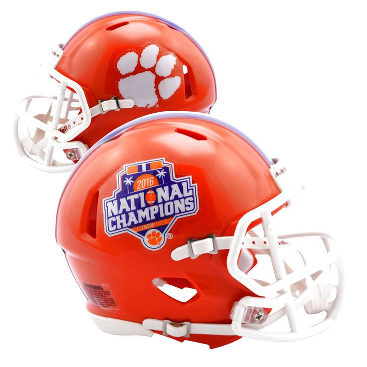 Riddell Clemson Tigers College Football Playoff 2016 National Champions Revolution Speed Full-Size Replica Football Helmet - $144.99