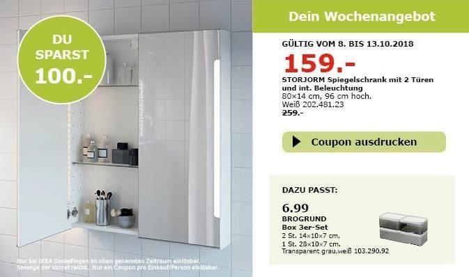 Ikea Sindelfingen Storjorm Spiegelschrank Spiegelschrank Ikea Kuche Und Haushalt