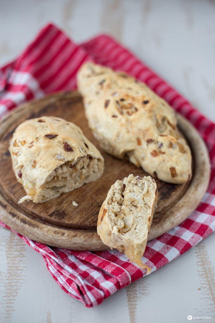 Leckerer Snack für die nächste Party: Unser Zwiebel-Schinken-Brot ! Perfekt fürs Grillen oder das nächste Picknick mit Balsamico und Schinken.