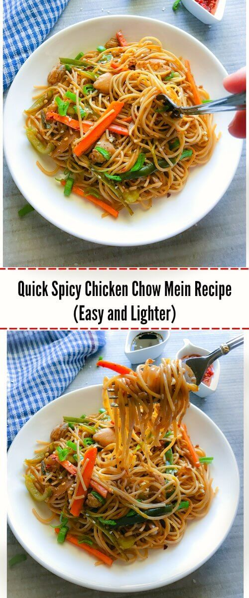 Best 25 easy chicken chow mein recipe ideas on pinterest quick spicy chicken chow mein recipe easy and lighter chinese recipeschinese foodasian forumfinder Images