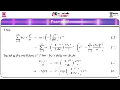 NRK ACADEMY: HERMITE POLYNOMIALS - GENERATING FUNCTION AND RECU...
