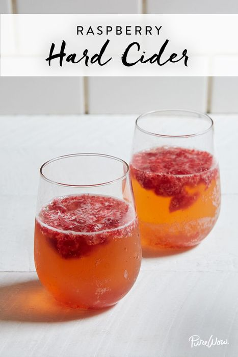 RASPBERRY HARD CIDER (MAKES 1 COCKTAIL)  In a glass, muddle ¼ cup fresh raspberries and 2 teaspoons sugar to combine. Add 1 shot vodka and stir to combine. Top with 1 bottle Magners (or other hard cider).