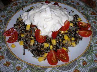 Amanida d'arròs salvatge/ Ensalada de arroz salvaje/ Wild rice salad/ Salada de arroz selvagem
