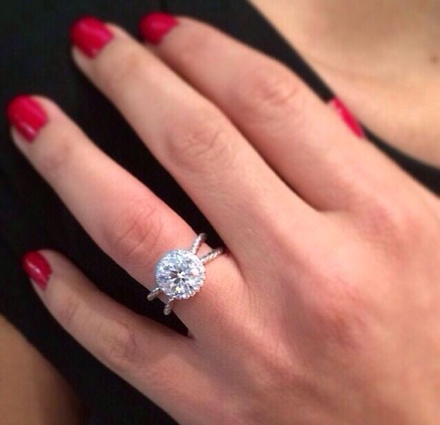 David Yurman Double Halo Engagement Ring