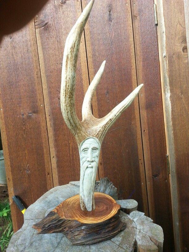 Red deer antler carving by william mckinney my carvings