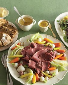 Martha Stewart St. Patrick's Day RecipesHomemade Corn, Corn Beef, Corned Beef, Martha Stewart, Irish Food, Cornedbeef, St Patricks, Cornbeef, Irish Recipe