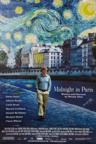 While on a trip to Paris with his fiances family, a nostalgic screenwriter finds himself mysteriously going back to the 1920s every day at midnight.