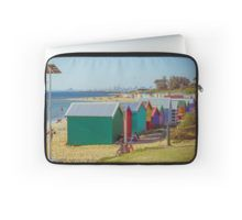 The Long View of the Brighton Bath Huts - Brighton, Victoria Laptop Sleeve