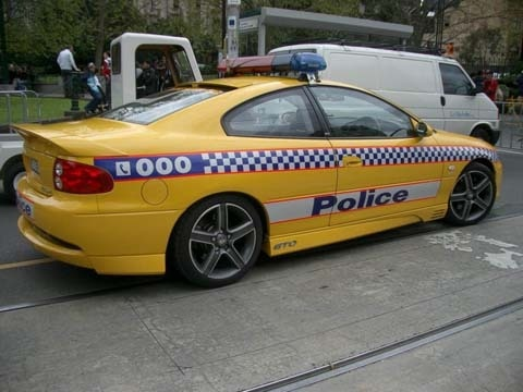 Victoria Police Australia Holden HSV GTO Monaro. Highway Patrol
