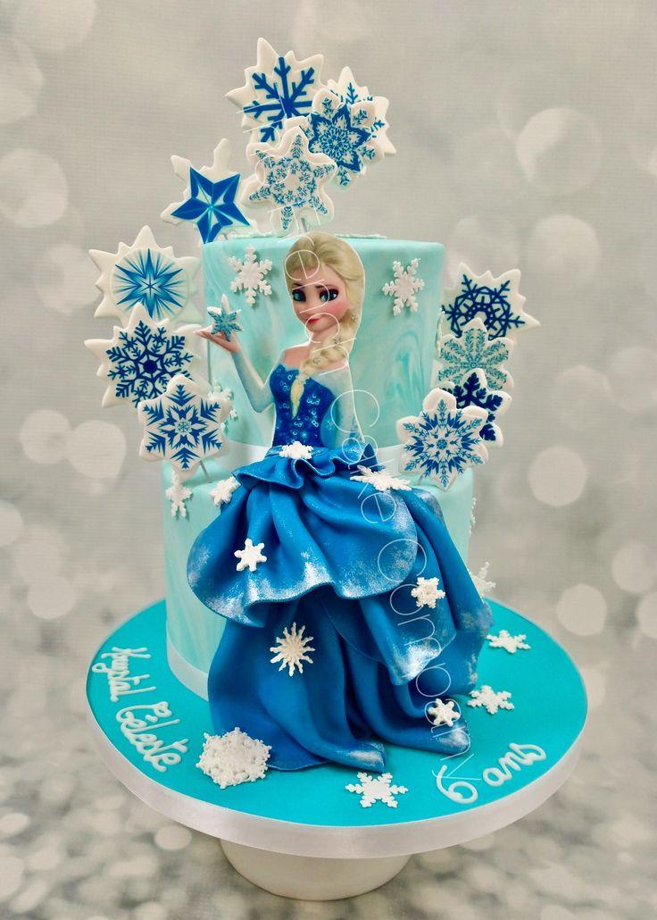 12 best g teau reine des neiges frozen cakes images on - Barbie princesse des neiges ...