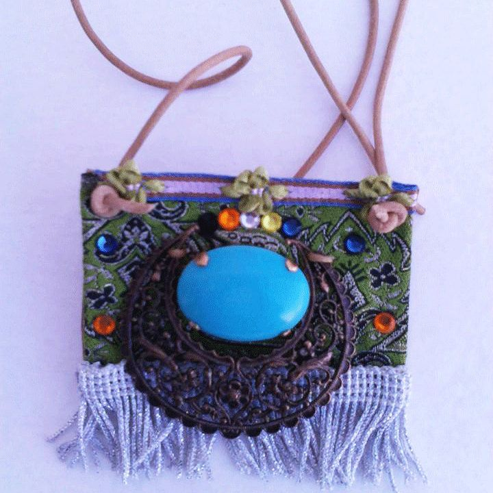 Necklace gypsy style boho handmade by boutiqueofsandals on Etsy
