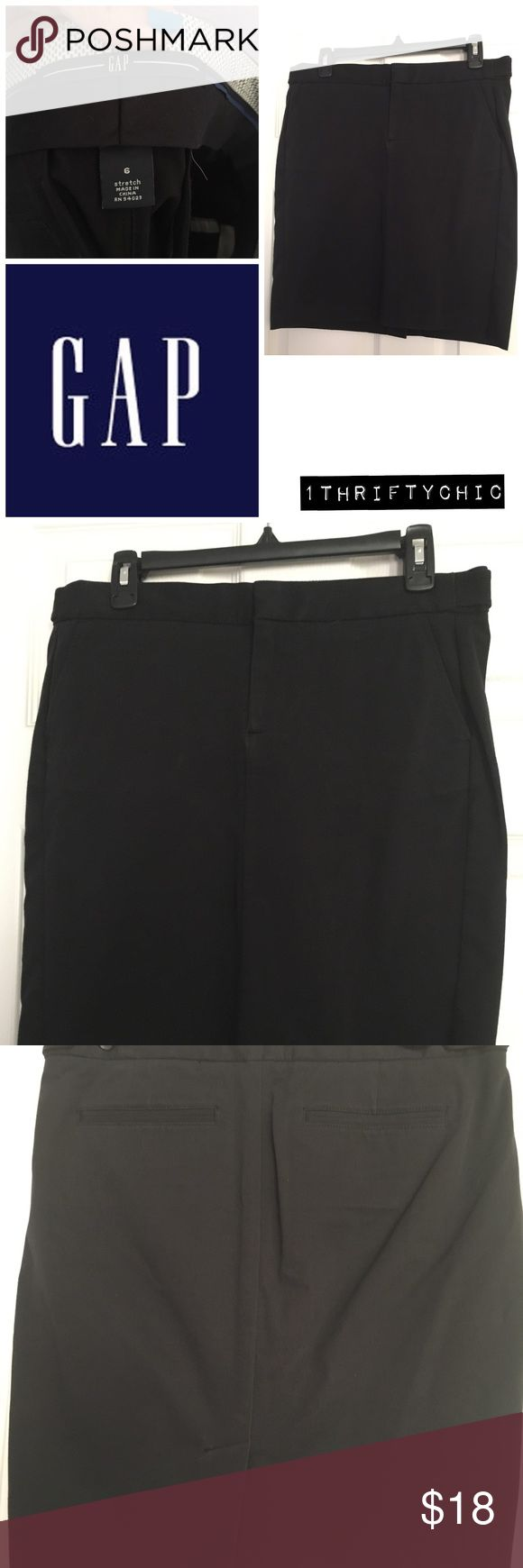 Gap Black Stretch Skirt 🚨CYBER MONDAY DEAL 🚨Black stretch skirt. No rips or stains. Good condition. GAP Skirts