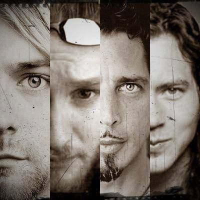 Kurt Cobain (Nirvana) Layne Staley (Alice in Chains) Chris Cornell (Soundgarden) Eddie Vedder (Pearl Jam) - Grunge icons