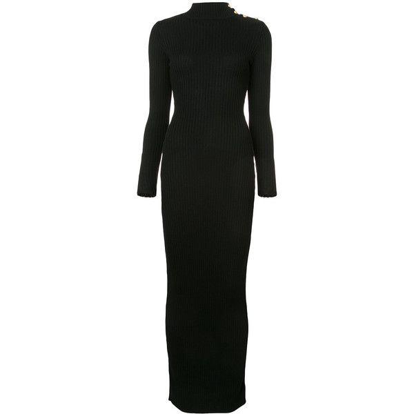 Balmain turtleneck sweater dress ($1,445) ❤ liked on Polyvore featuring dresses, balmain dress and balmain