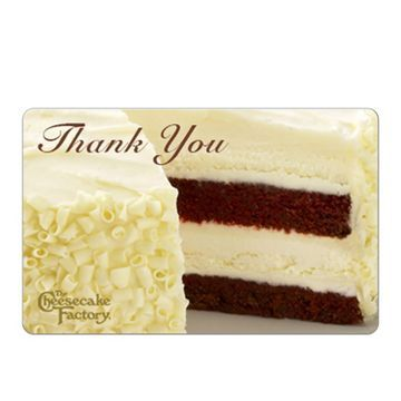 The Cheesecake Factory Gift Card: Thank You $25 (email delivery)