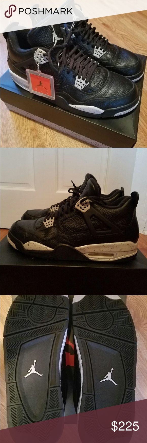 Jordan Retro 4 Oreo   100% Authentic. Worn twice. Jordan Retro 4 Oreo   100% Authentic. Worn twice and box included. Awesome to add to your collection. No trade on this item, but open to reasonable offers. Thanks for shopping my closet! Jordan Shoes Sneakers