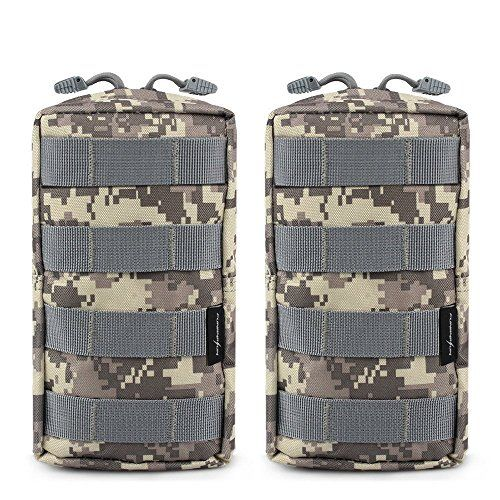 2 Pack Molle Pouches - Tactical Compact Water-resistant EDC Pouch #Pack #Molle #Pouches #Tactical #Compact #Water #resistant #Pouch