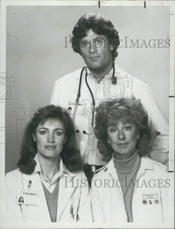 1982 Press Photo Actors Cynthia Sikes Terence Knox And Christina Pickles