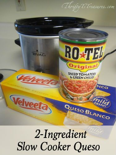 This 2 Ingredient Slow Cooker Queso is not only a crowd please but is super easy to make! It can't get much easier than this folks!