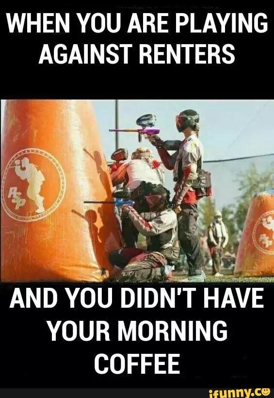 paintball, rental, savage, morning, coffee