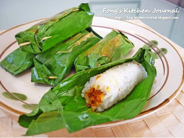 Fong's Kitchen Journal: Pulut Panggang (Glutinous Rice with Dried Shrimps)...