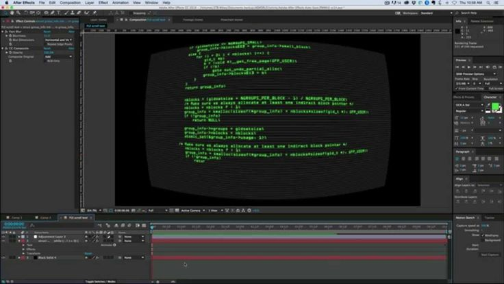 how to make a scrolling text in after effects